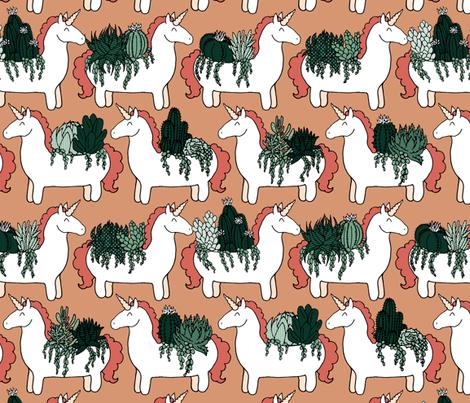 Herd of Unicorn Planters fabric by pond_ripple on Spoonflower - custom fabric