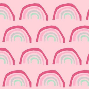 pink rainbow fabric - rainbows pink magic nursery design