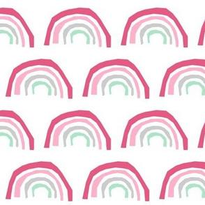 pink rainbow fabric - rainbows pink magic nursery design