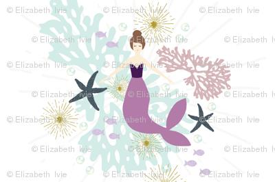 """Laguna Mermaid Single Motif Baby Blanket 54"""" // Brunette"""