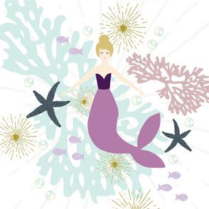 """Laguna Mermaid Single Motif Baby Blanket 42"""" // Blonde"""