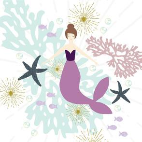 """Laguna Mermaid Single Motif Baby Blanket 42"""" // Brunette"""