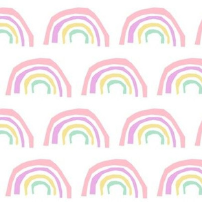 rainbow fabric magic rainbows nursery baby - pastel