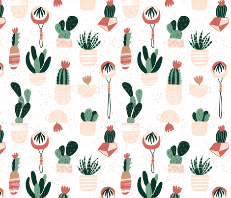 Urban Succulents fabric by enariyoshi on Spoonflower - custom fabric