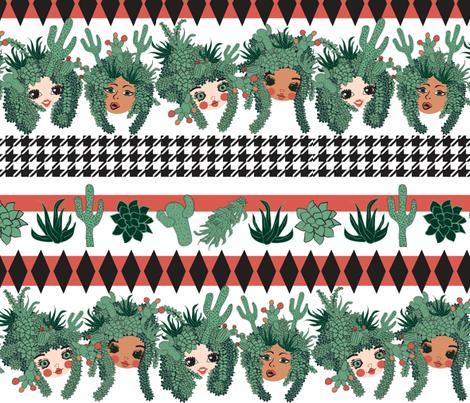 Prickly Heads fabric by orangefancy on Spoonflower - custom fabric