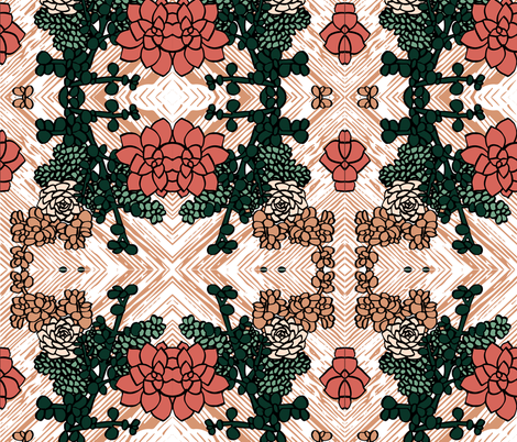 Limited_Color_Palette_Succulents fabric by amber_apel on Spoonflower - custom fabric