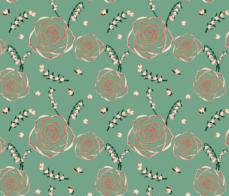 succulent spring  fabric by lynnbishopdesign on Spoonflower - custom fabric