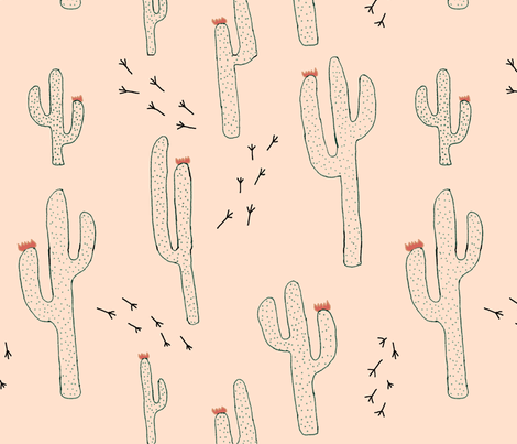 limited_colors_cactus fabric by h_caspia on Spoonflower - custom fabric