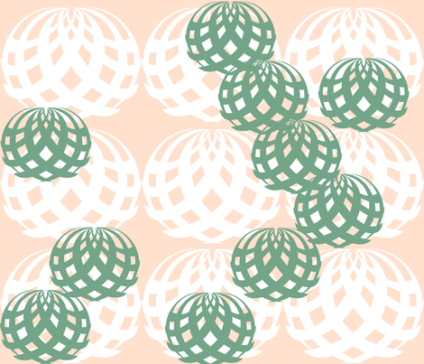 succulents fabric by sewlastweek on Spoonflower - custom fabric