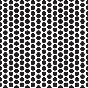 Polka-dots - large black on white