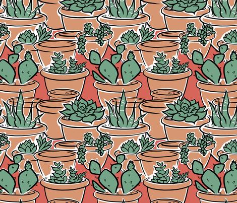 Succulent fabric by bonsaimechagirl on Spoonflower - custom fabric