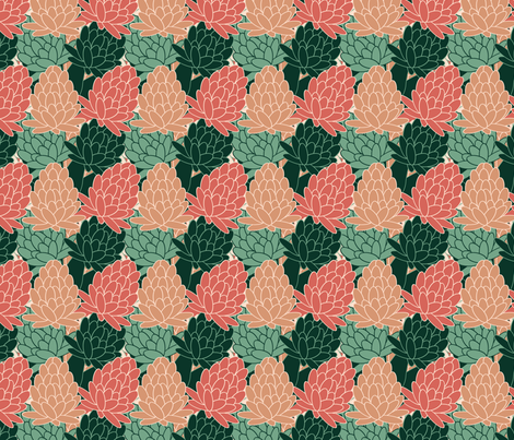Succulents fabric by anino on Spoonflower - custom fabric