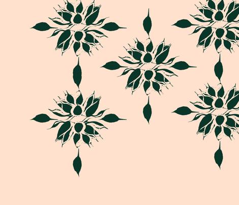 agave_marginata3_mbh fabric by mbahanley on Spoonflower - custom fabric