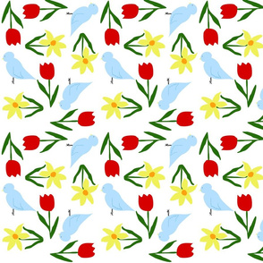 Spring_Flowers_and_Blue_Birds