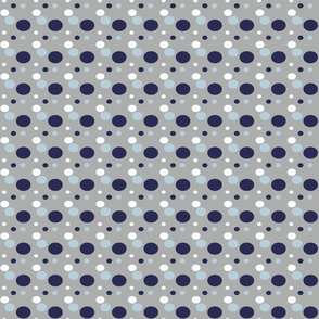 Ezra Polka Dots Gray Nautical