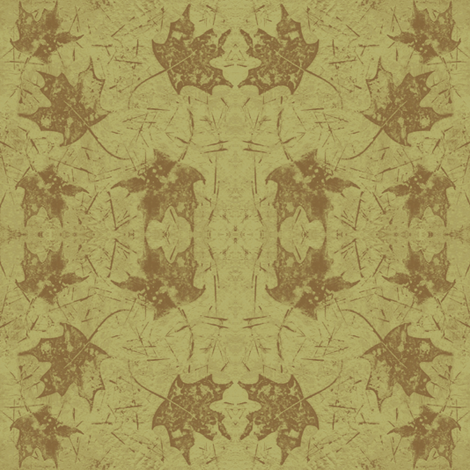 Maple Leaf Olive Green fabric by peaceofpi on Spoonflower - custom fabric