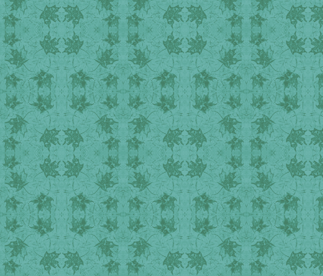 Maple Leaf Turquoise Green fabric by peaceofpi on Spoonflower - custom fabric