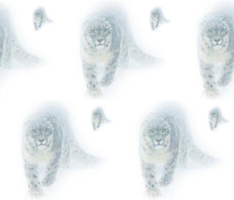 Snow Leopard  fabric by floramoon_designs on Spoonflower - custom fabric