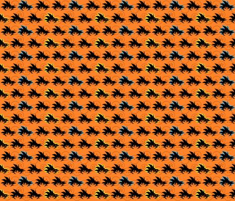 Dragon Ball Inspired Goku fabric by lanrete58 on Spoonflower - custom fabric