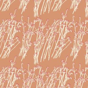 desert blooms - clay/sienna/rubarb