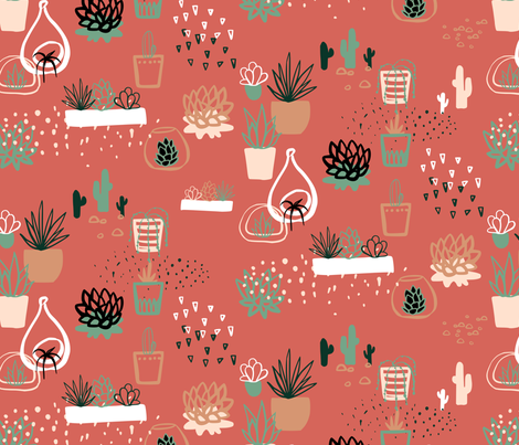 such succulents fabric by mrshervi on Spoonflower - custom fabric