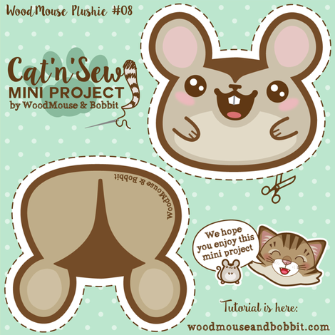 Woodmouse_Plushie_08 fabric by woodmouse&bobbit on Spoonflower - custom fabric