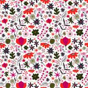 Jewel Tone Floral Pattern