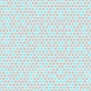 Gray and Blue Honeycomb