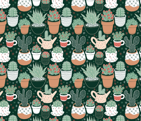 succulent fabric by nclbttn on Spoonflower - custom fabric
