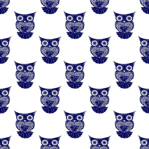 Scroll Navy Owl