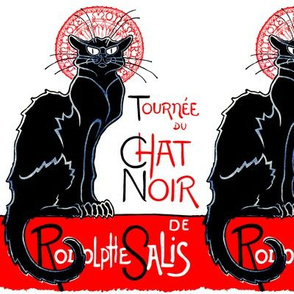 black cats cat vintage retro kitsch tournee du Le Chat Noir Rodolphe Salis cabaret nightclubs  french words france
