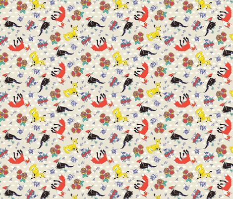 Flora & Fauna fabric by brooke_elayyne on Spoonflower - custom fabric