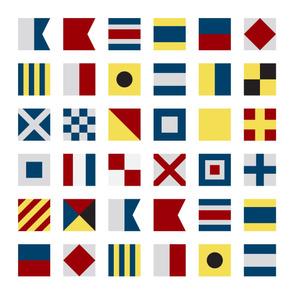 Nautical Alphabet Baby Blanket