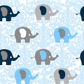 Navy Blue Elephant