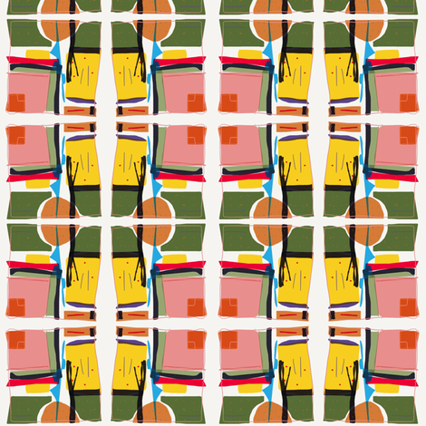 Retro Active fabric by misselaineous_artwork on Spoonflower - custom fabric