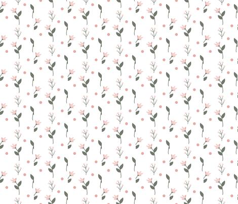 Simple Pink Flowers fabric by beesweet on Spoonflower - custom fabric