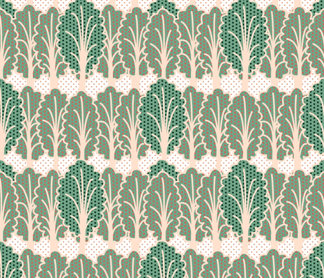Succulent Forest by Su_G fabric by su_g on Spoonflower - custom fabric