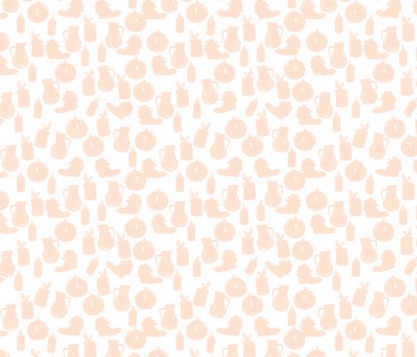 Succulent Silhouettes-Blush fabric by jamielewisdesigns on Spoonflower - custom fabric