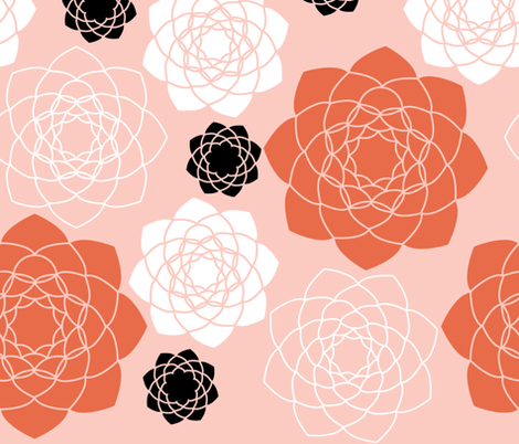 Succulent_Symmetry__Blush_ fabric by wink&smile on Spoonflower - custom fabric