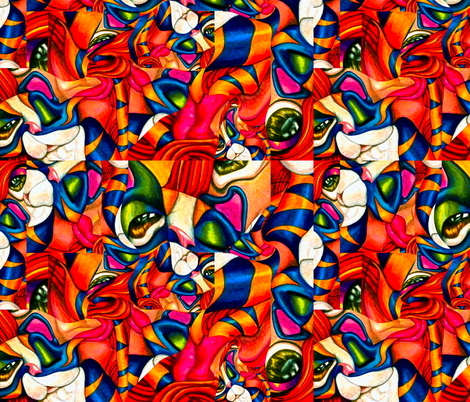 Cat Fight fabric by whimzwhirled on Spoonflower - custom fabric