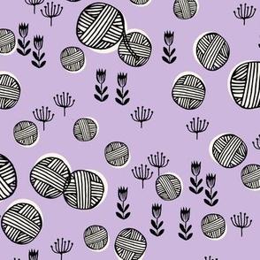 yarn fabric // knitting yarn ball crochet knitter design by andrea lauren - pastel purple