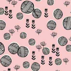 yarn fabric // knitting yarn ball crochet knitter design by andrea lauren - pale pink