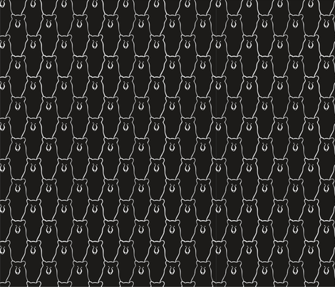 Wilderness Black Bear fabric by outside_the_line on Spoonflower - custom fabric