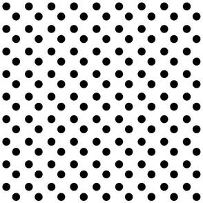 polka dots MEDIUM 2x2  - white black