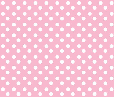 polka dots MEDIUM 2x2 - pinky white fabric by drapestudio on Spoonflower - custom fabric