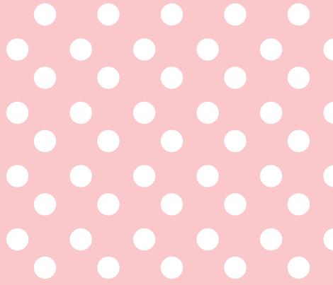 polka dots Large -petal white fabric by drapestudio on Spoonflower - custom fabric