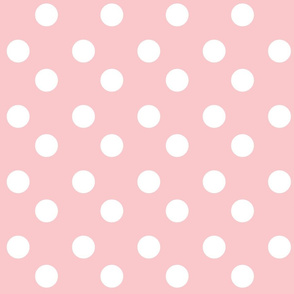 polka dots Large -petal white