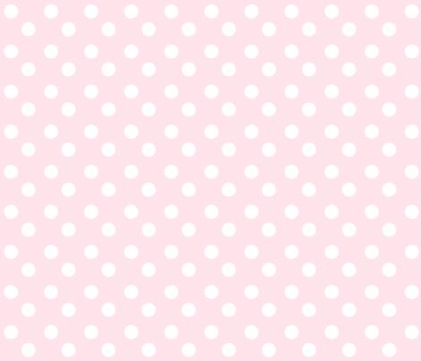 polka dots MEDIUM 2x2 -baby pink white fabric by drapestudio on Spoonflower - custom fabric