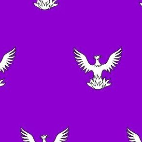 Purpure, a Phoenix Argent