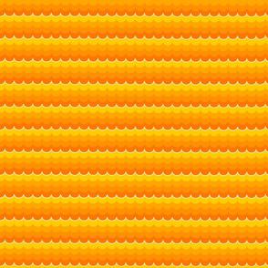 Nautical Coord - Ombre Scallops Orange